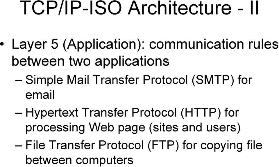 for email Hypertext Transfer Protocol (HTTP) for processing Web page