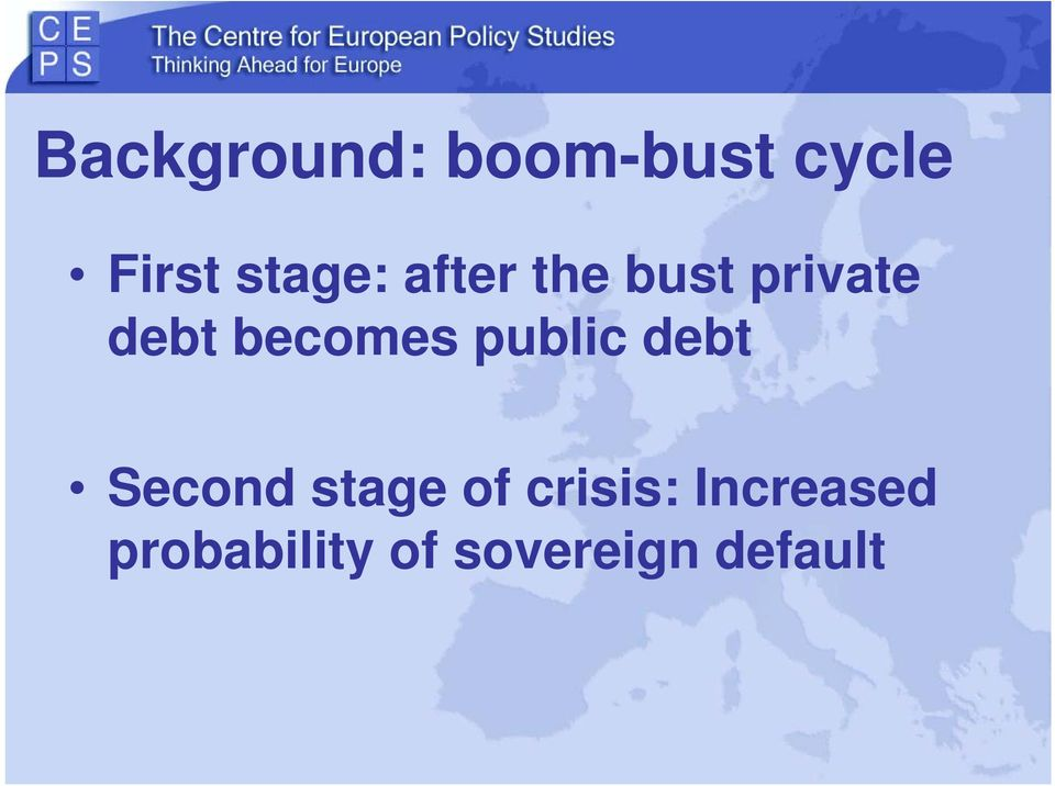 becomes public debt Second stage of