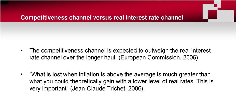 What is lost when inflation is above the average is much greater than What is lost when inflation is above the