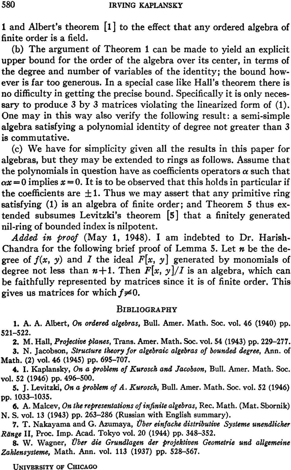 however is far too generous. In a special case like Hall's theorem there is no difficulty in getting the precise bound.
