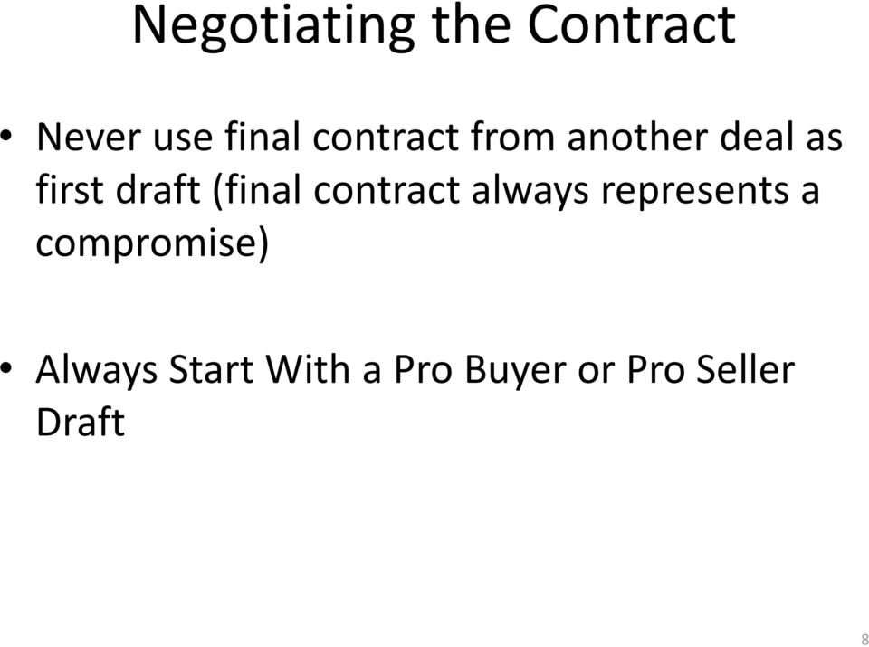 (final contract always represents a