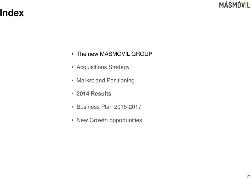 Positioning 2014 Results Business