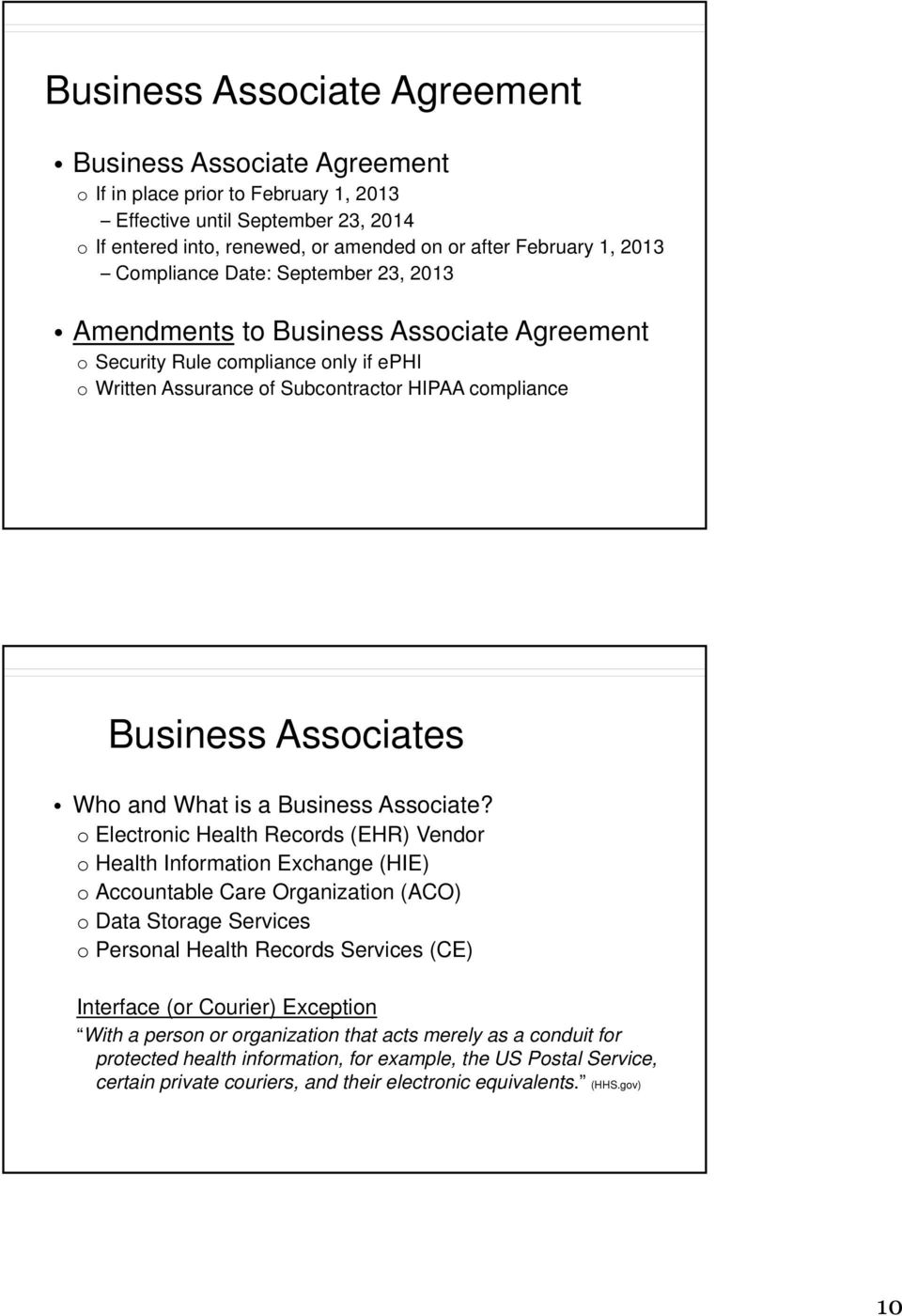 Who and What is a Business Associate?