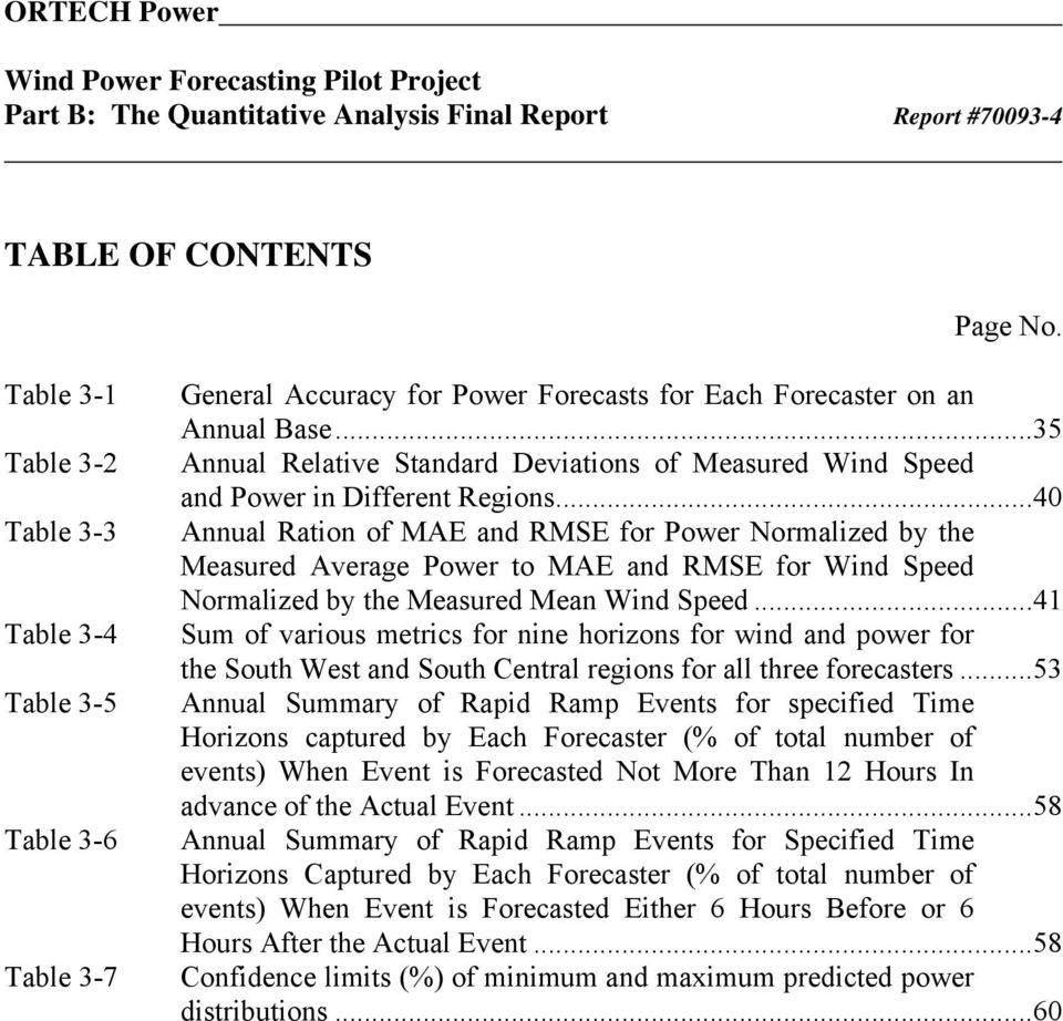 ..35 Annual Relative Standard Deviations of Measured Wind Speed and Power in Different Regions.