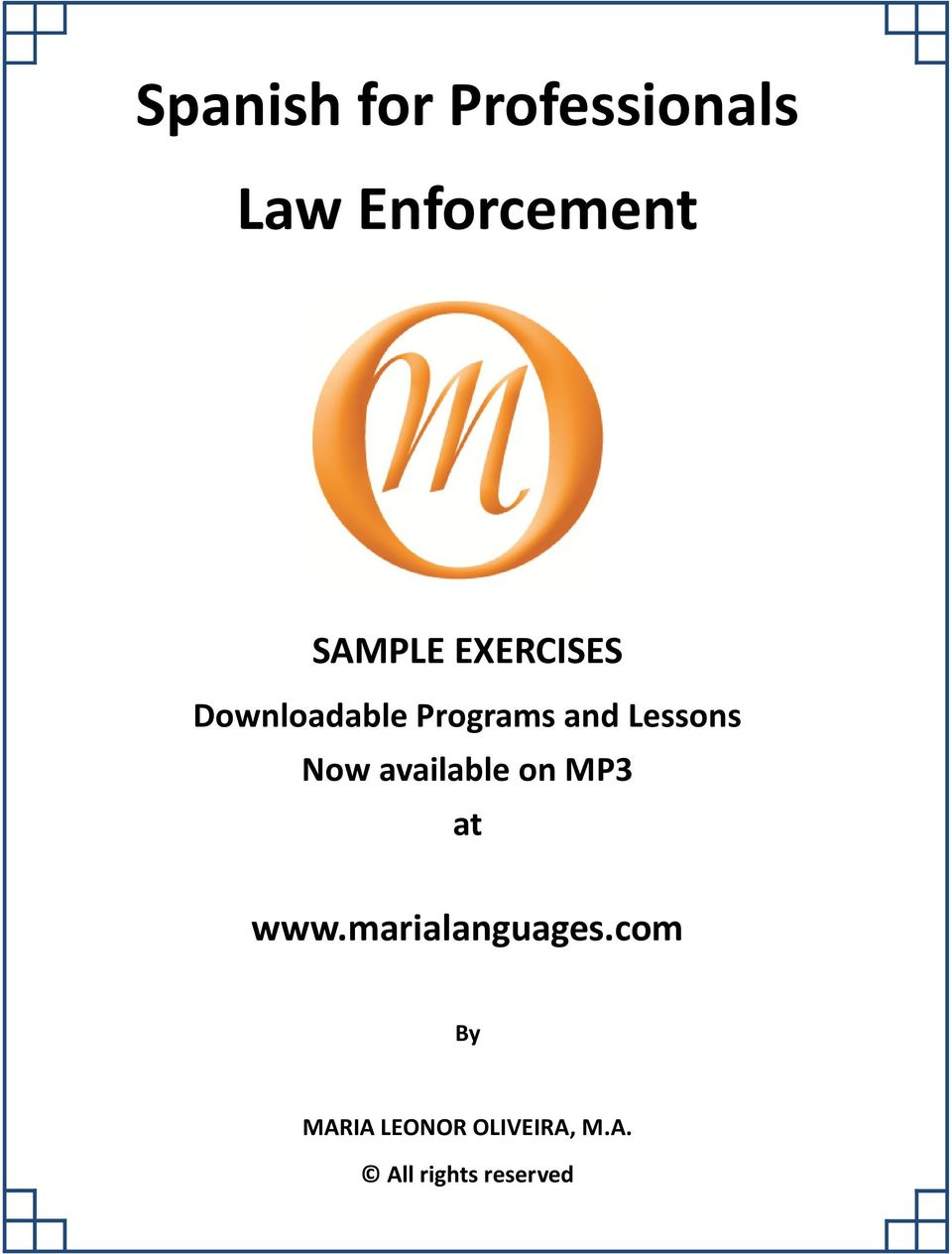 Lessons Now available on MP3 at www.