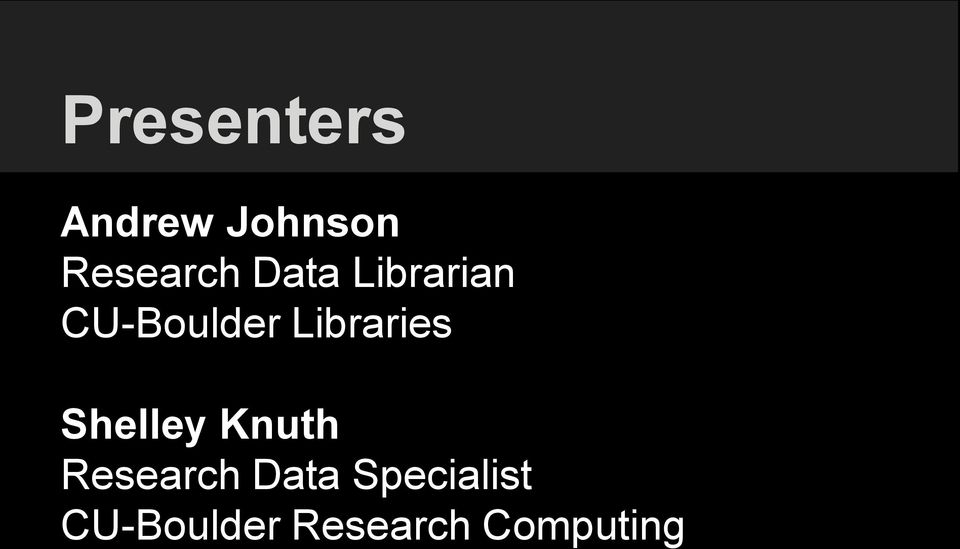 Libraries Shelley Knuth Research