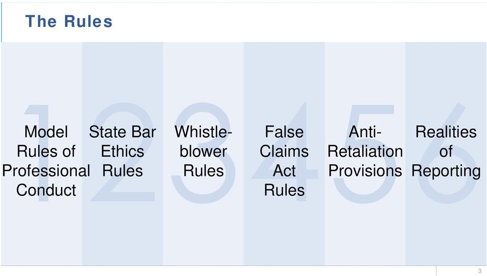 Rules False Claims Act Rules Anti-