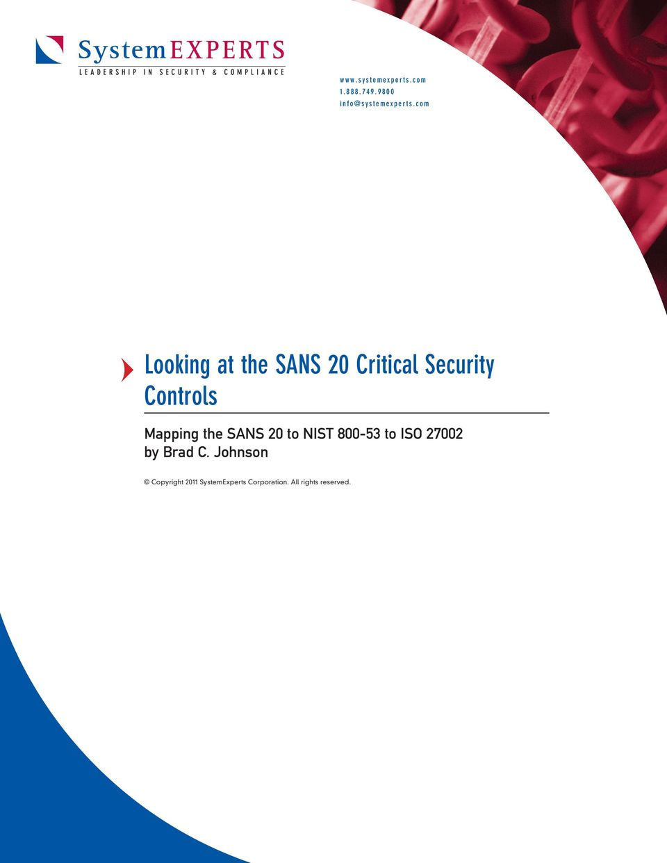 Mapping the SANS 20 to NIST