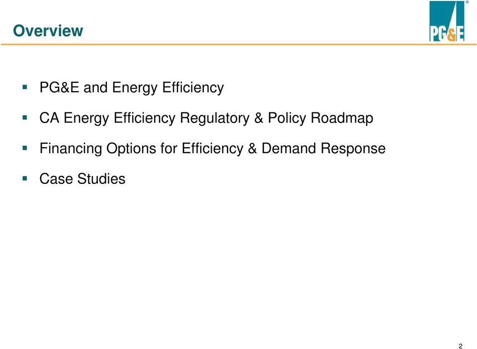 Policy Roadmap Financing Options for