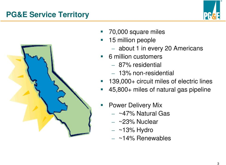 139,000+ circuit miles of electric lines 45,800+ miles of natural gas
