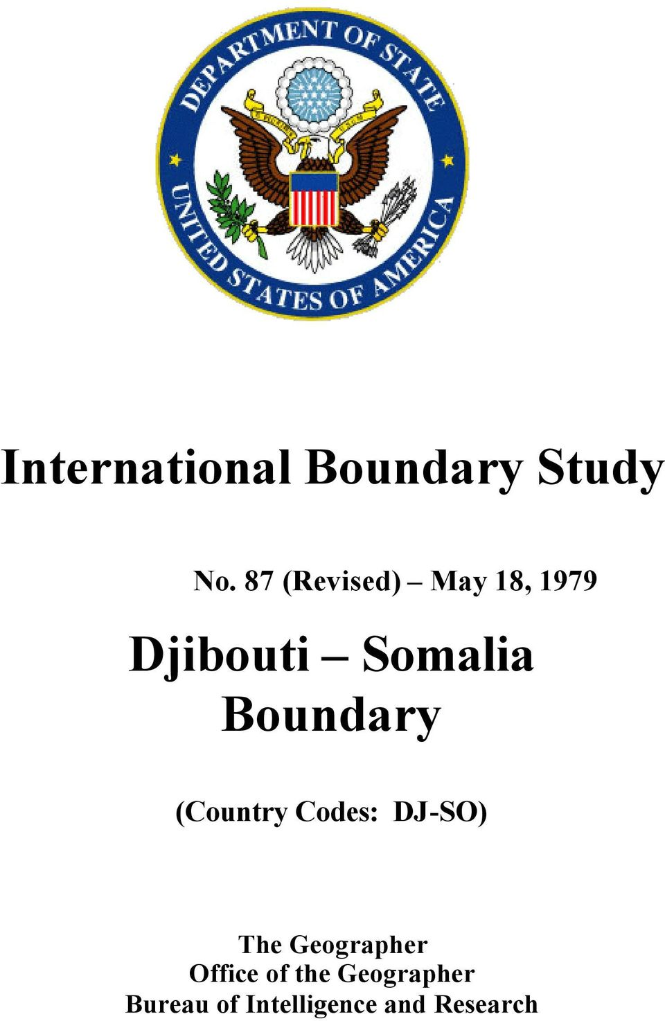 Boundary (Country Codes: DJ-SO) The