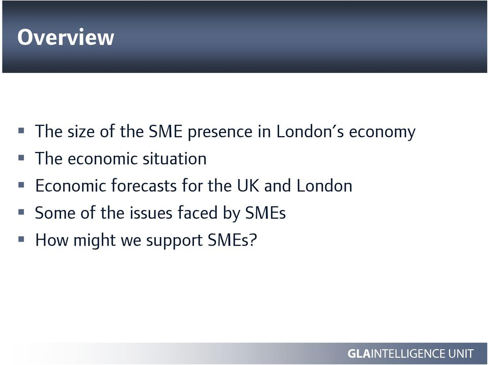 Economic forecasts for the UK and London Some