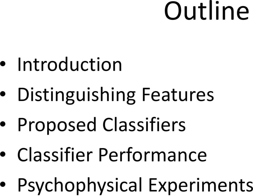 Proposed Classifiers