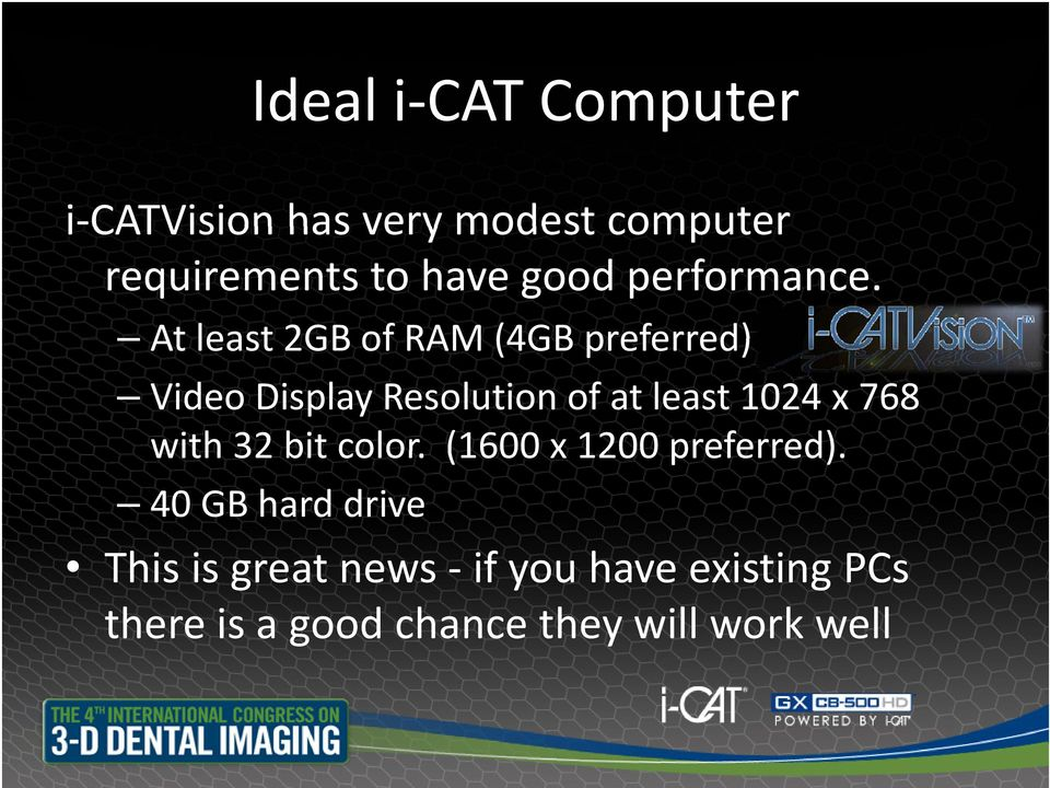 At least2gbof RAM (4GB preferred) Video Display Resolution of at least 1024 x 768