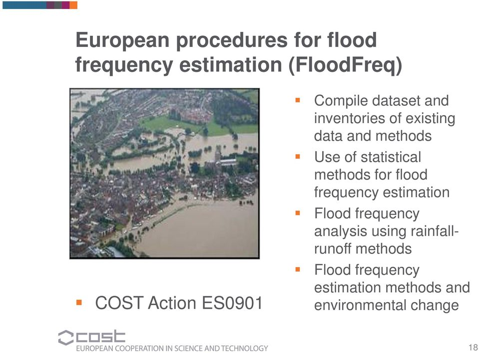 statistical methods for flood frequency estimation Flood frequency analysis