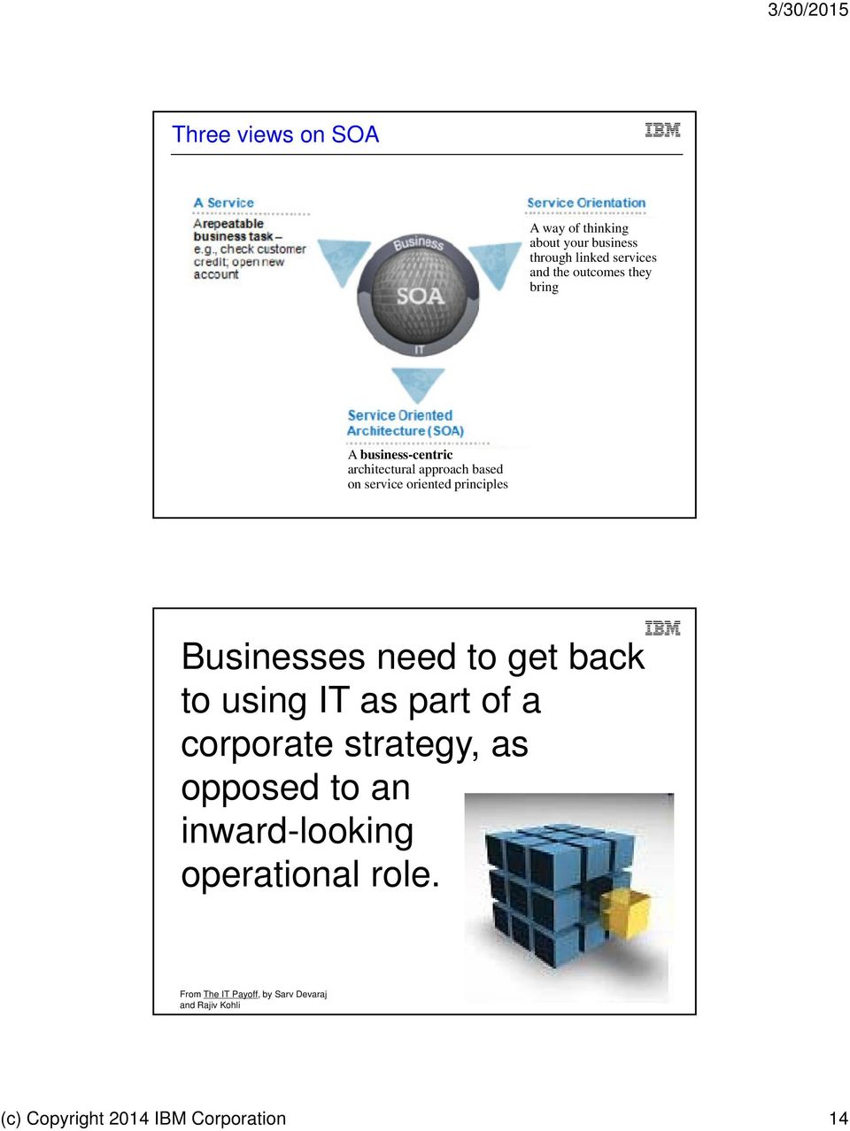 Businesses need to get back to using IT as part of a corporate strategy, as opposed to an