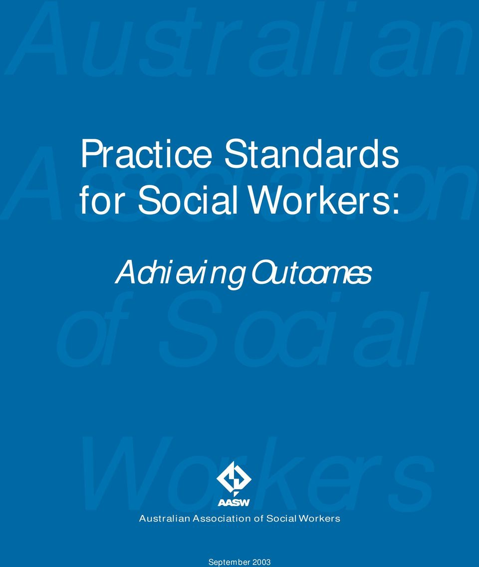Achieving Outcomes of Social Workers