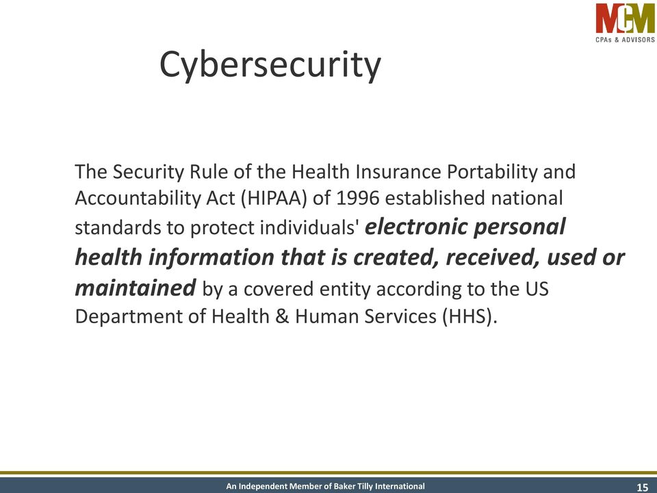 individuals' electronic personal health information that is created, received, used