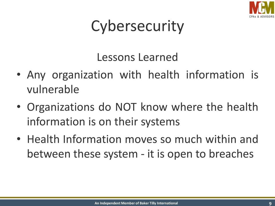 health information is on their systems Health Information