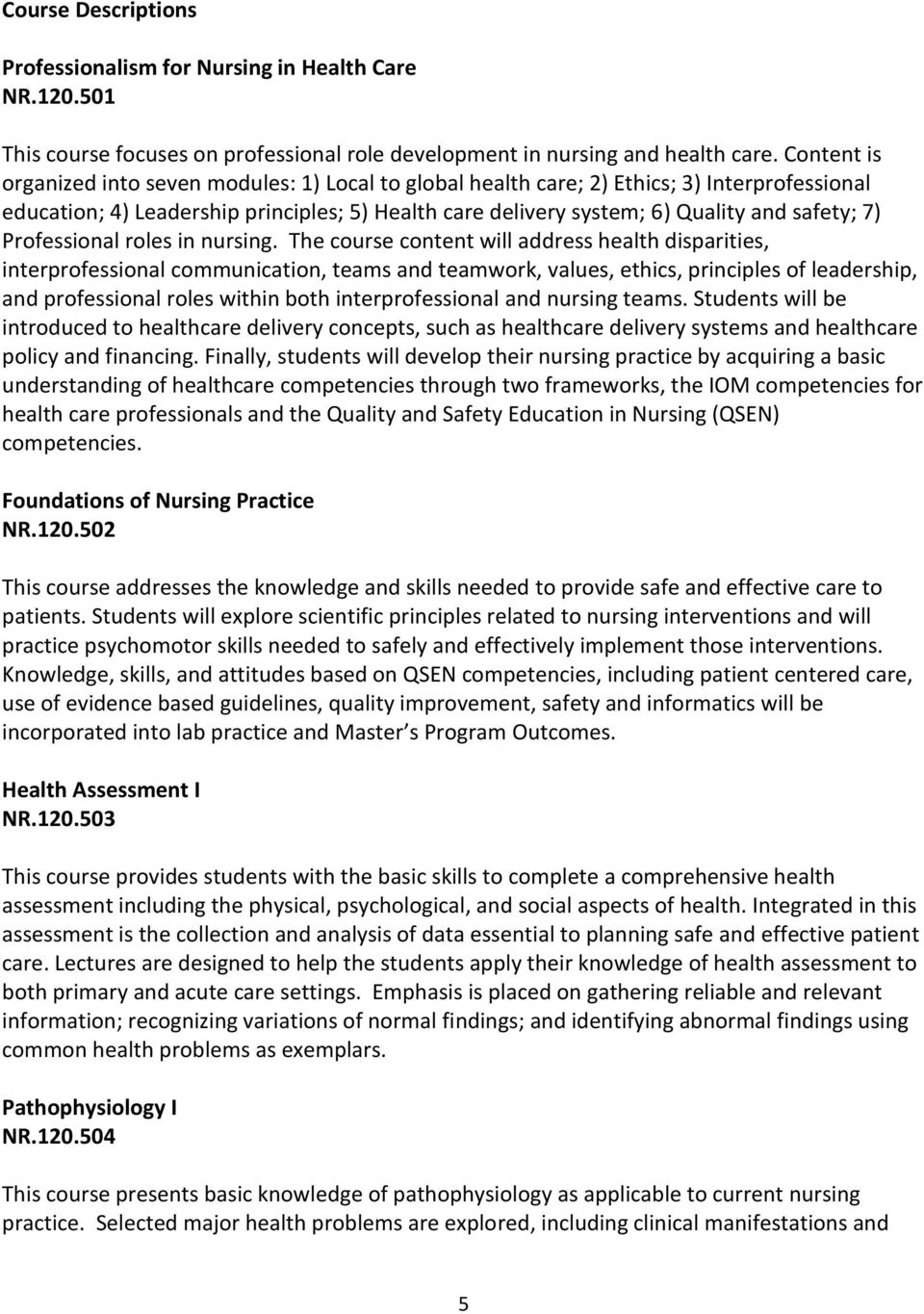 Professional roles in nursing.