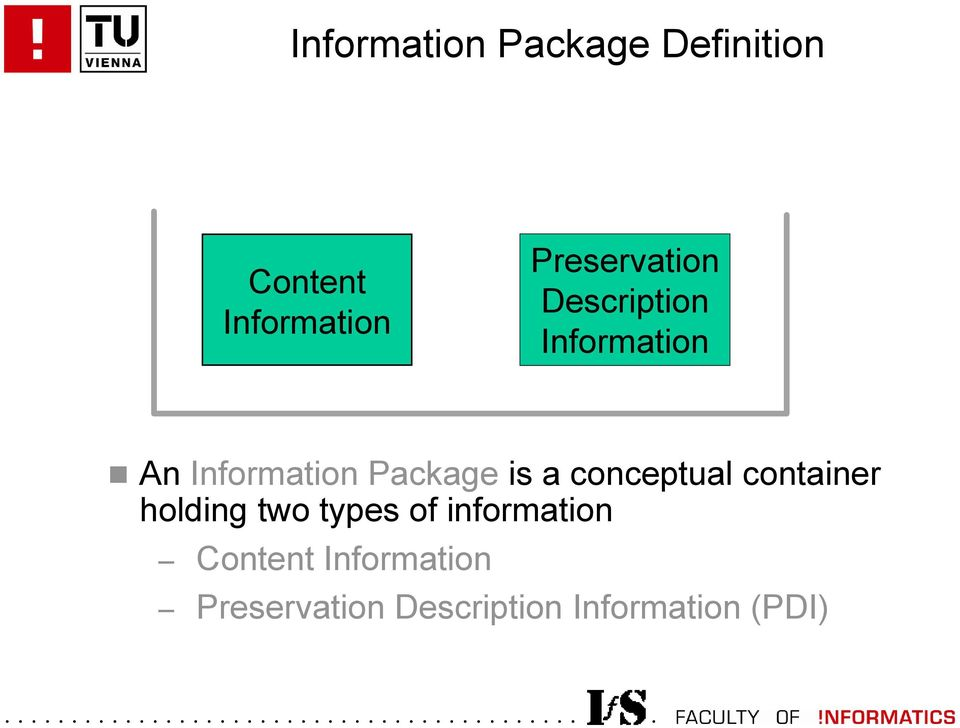 Package is a conceptual container holding two types of
