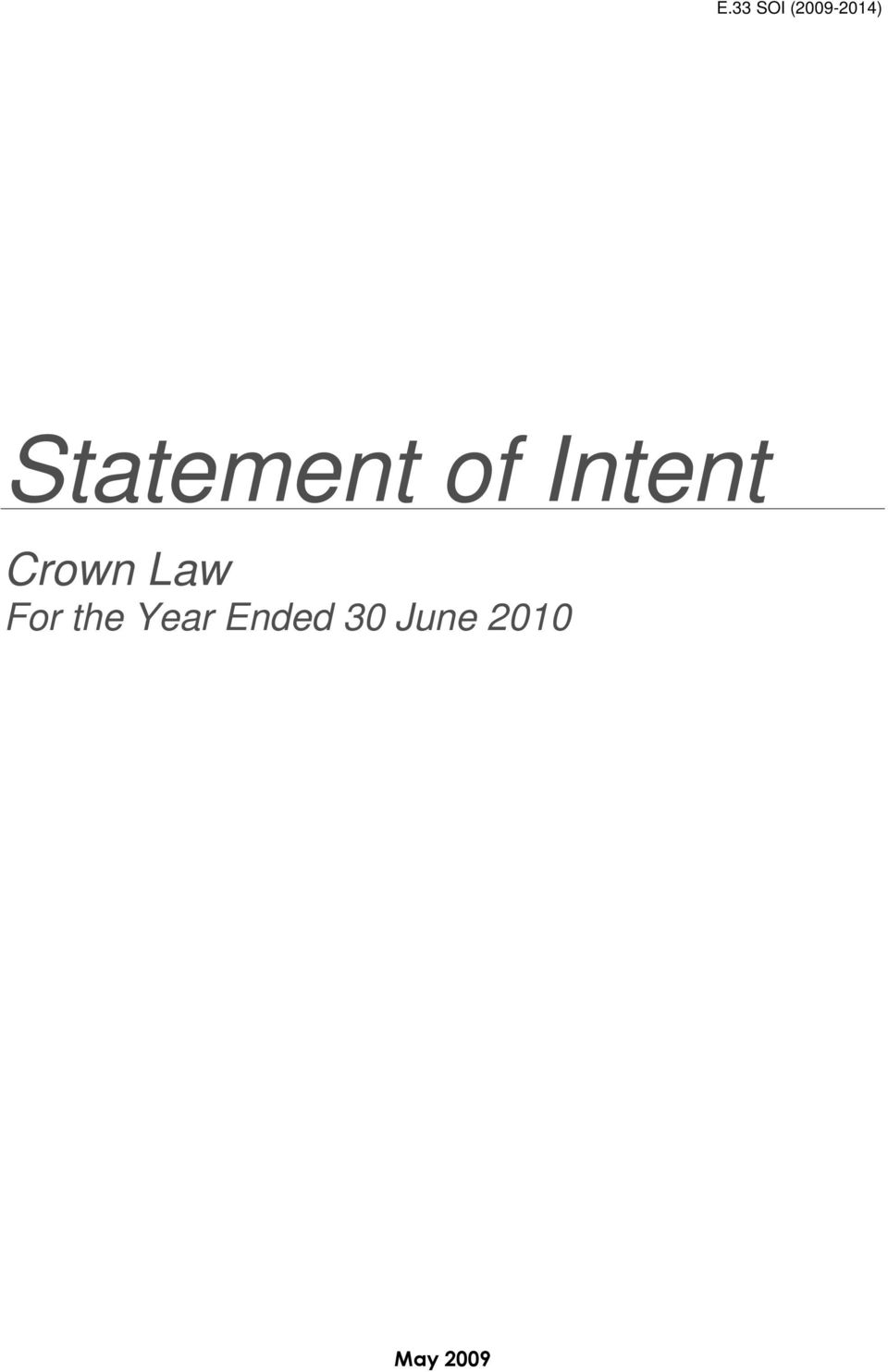 Crown Law For the