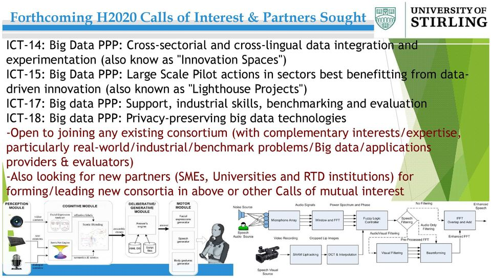 evaluation ICT-18: Big data PPP: Privacy-preserving big data technologies -Open to joining any existing consortium (with complementary interests/expertise, particularly