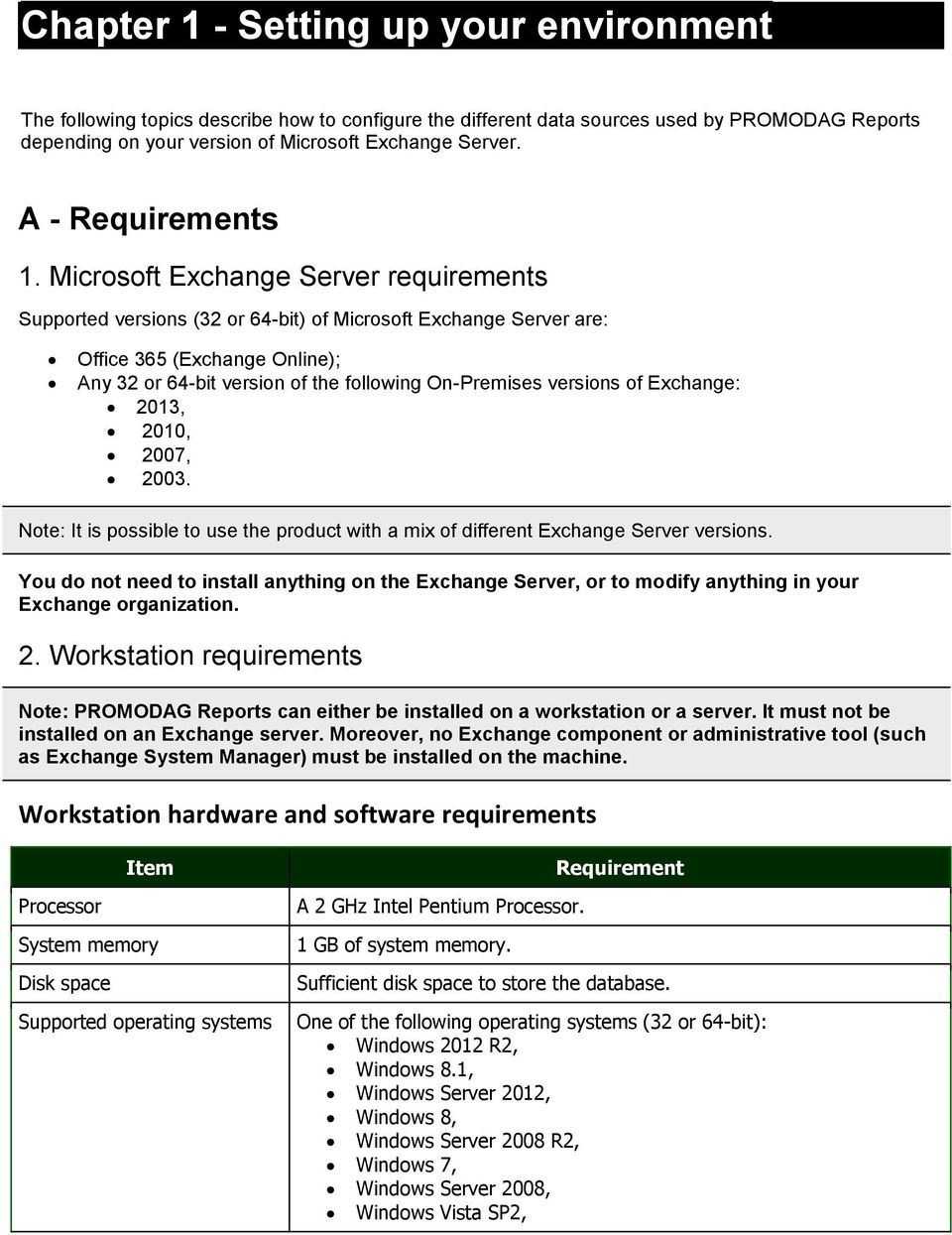 Microsoft Exchange Server requirements Supported versions (32 or 64-bit) of Microsoft Exchange Server are: Office 365 (Exchange Online); Any 32 or 64-bit version of the following On-Premises versions