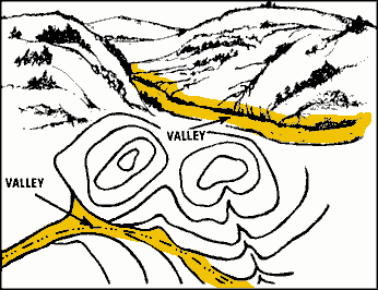 Land Feature - Valley Valley-reasonably level ground bordered on the sides by higher ground.