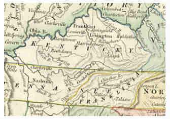 Kentucky, settlers set up the state of Transylvania In eastern Tennessee they