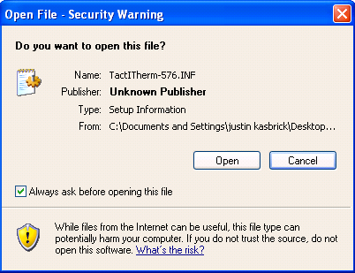 If a Security window pops up, click [Open]. Next, go to Control Panel and find your printers.