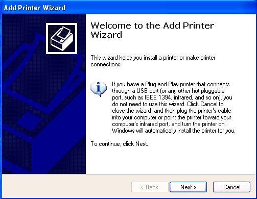 Click on [Add a printer] under the Printer Tasks or Right-click on an empty space and