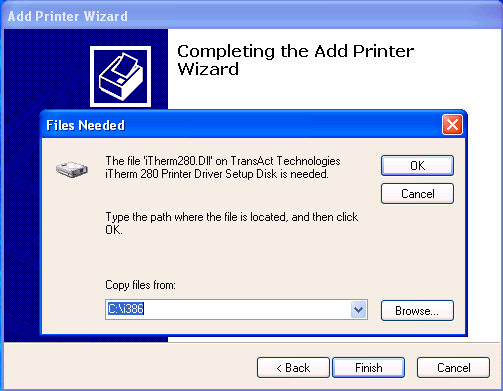 Click [Finish]. Now is the correct time to connect the printer or turn it on. A small box may pop up in the bottom-right corner saying that Windows has found new hardware.