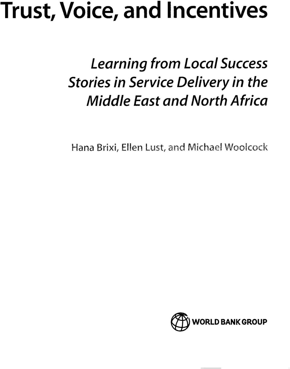 the Middle East and North Africa Hana Brixi,