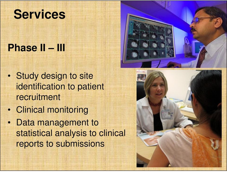 Clinical monitoring Data management to