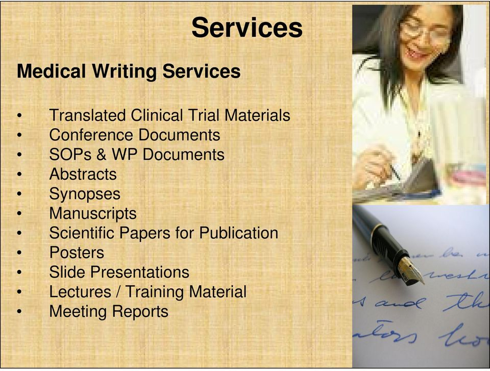 Synopses Manuscripts Scientific Papers for Publication