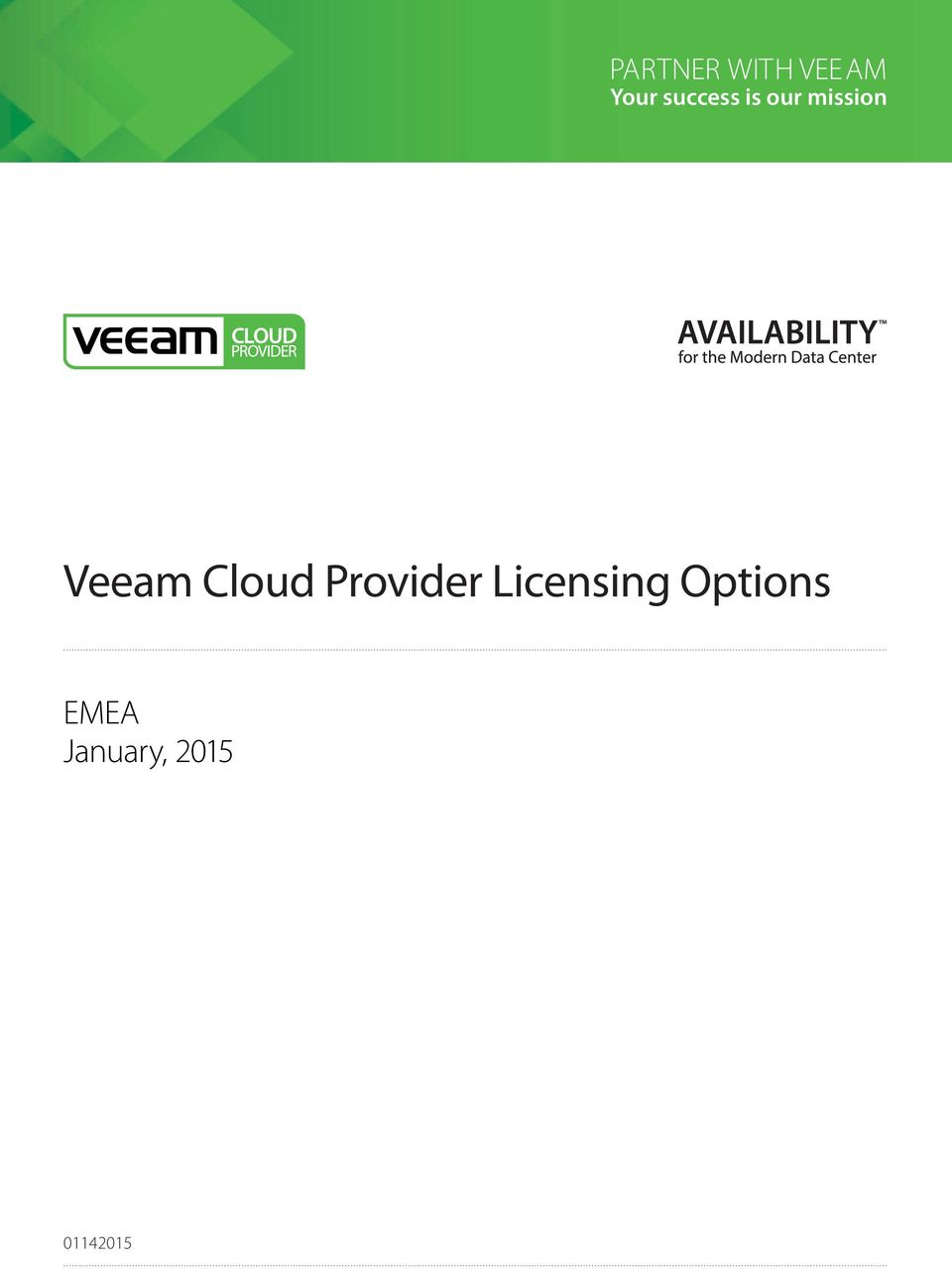 Your success is our mission Veeam