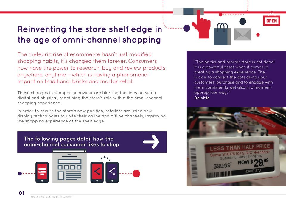 These changes in shopper behaviour are blurring the lines between digital and physical, redefining the store s role within the omni-channel shopping experience.