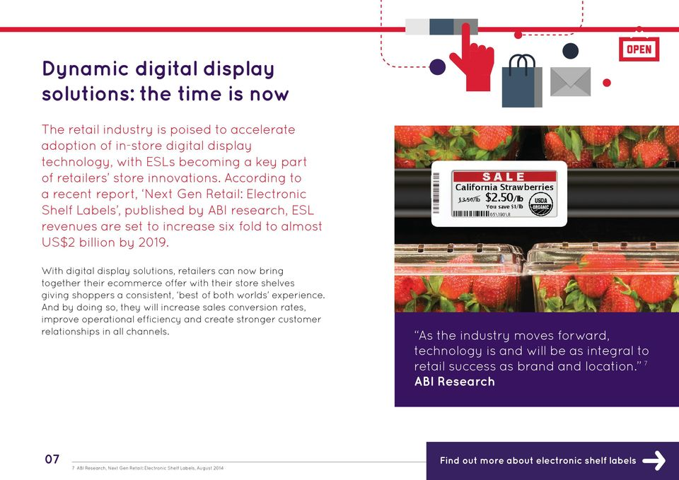 With digital display solutions, retailers can now bring together their ecommerce offer with their store shelves giving shoppers a consistent, best of both worlds experience.