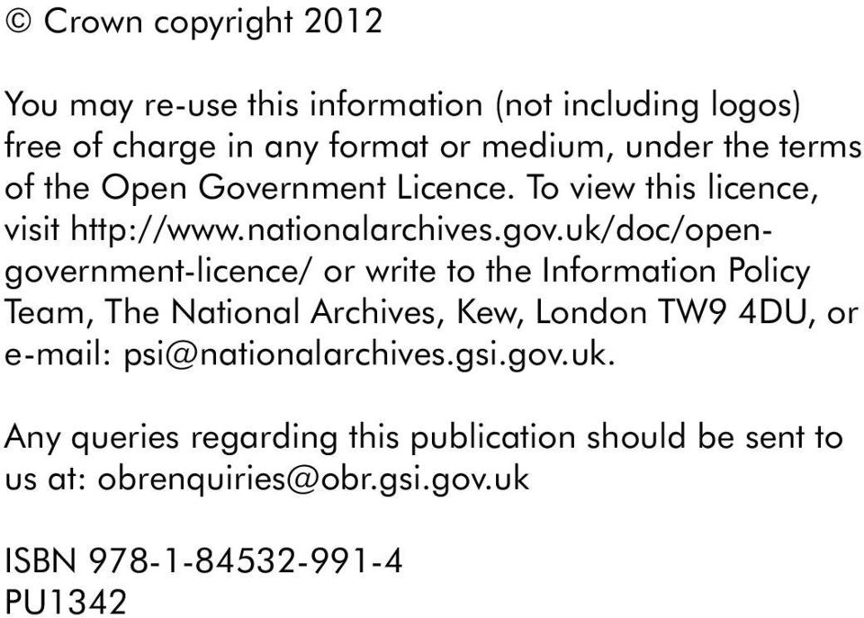 uk/doc/opengovernmen-licence/ or wrie o he Informaion Policy Team, The Naional Archives, Kew, London TW9 4DU, or