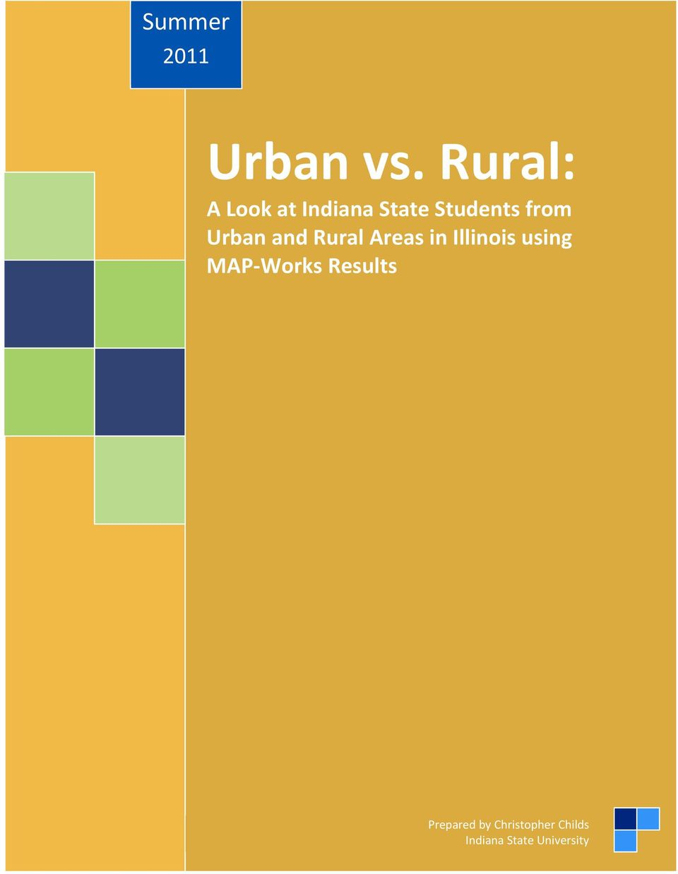 Urban and Rural Areas in Illinois using MAP