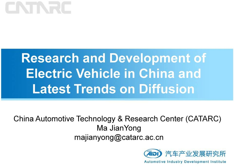 Diffusion China Automotive Technology &