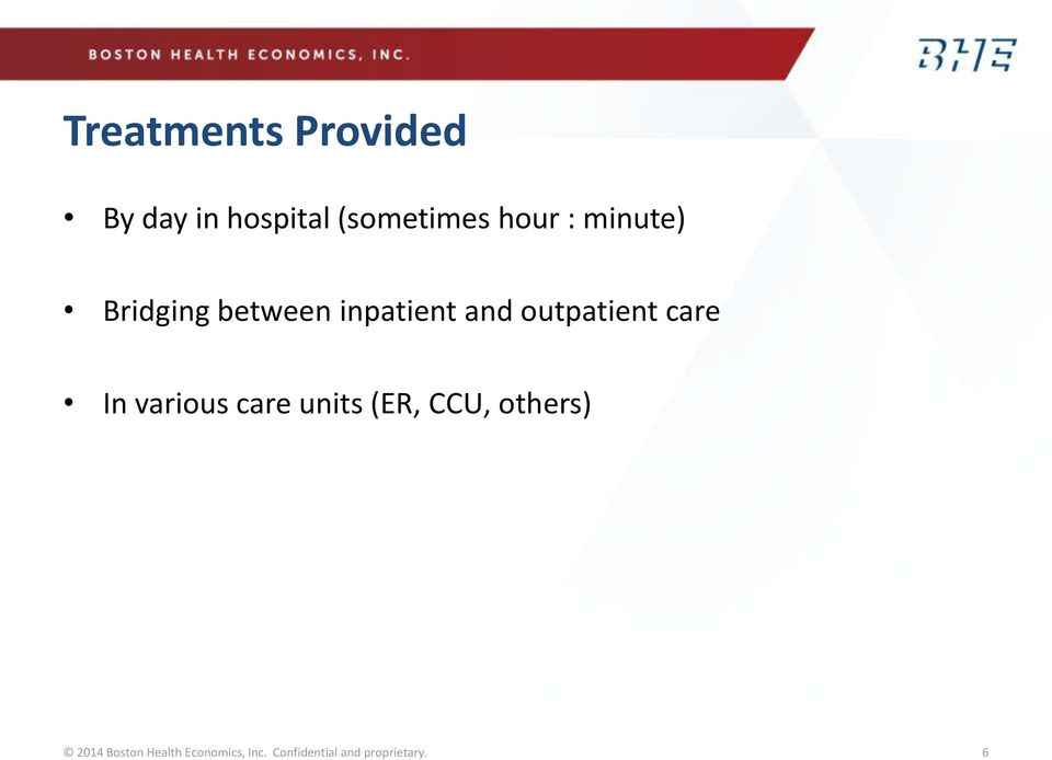 care In various care units (ER, CCU, others) 2014