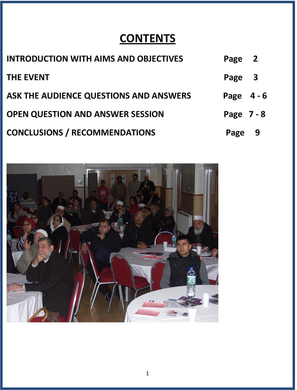 QUESTIONS AND ANSWERS Page 4-6 OPEN QUESTION AND