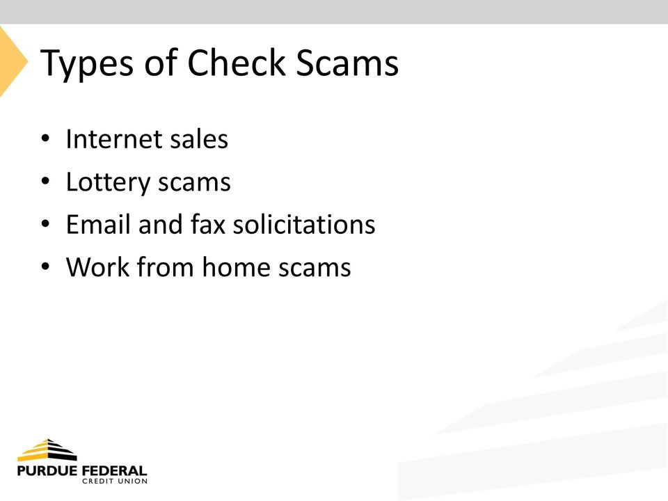 scams Email and fax