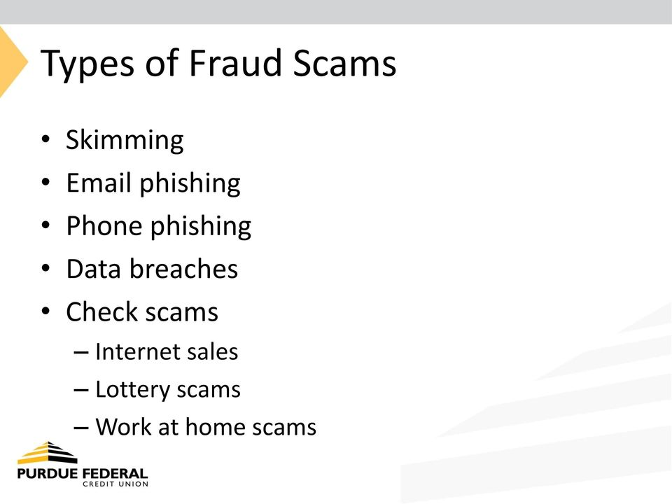 Data breaches Check scams