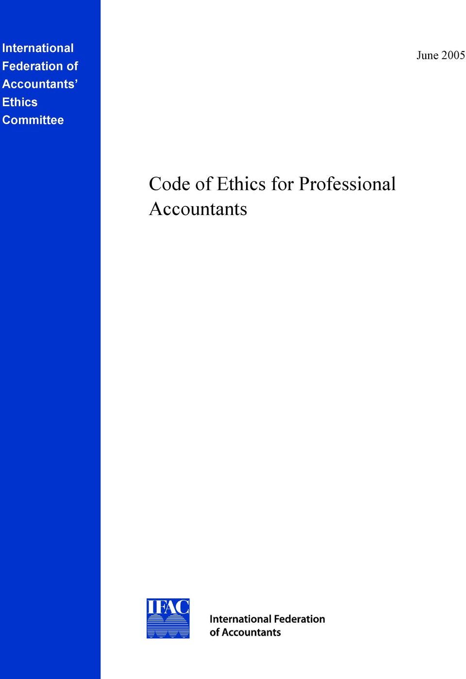 Committee June 2005 Code of
