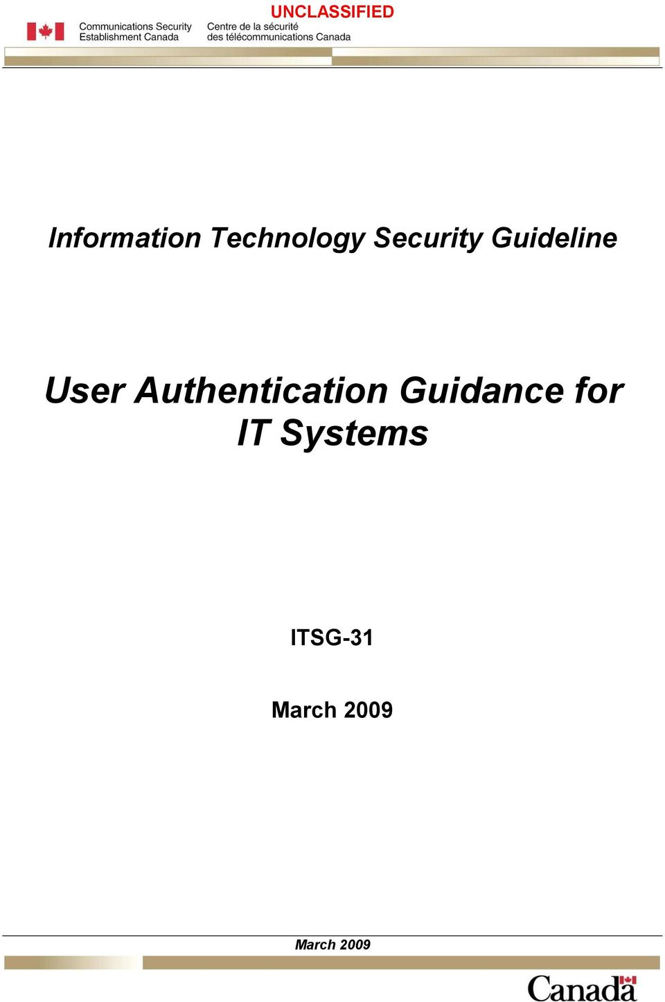 Authentication Guidance for