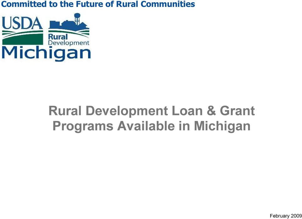 Development Loan & Programs