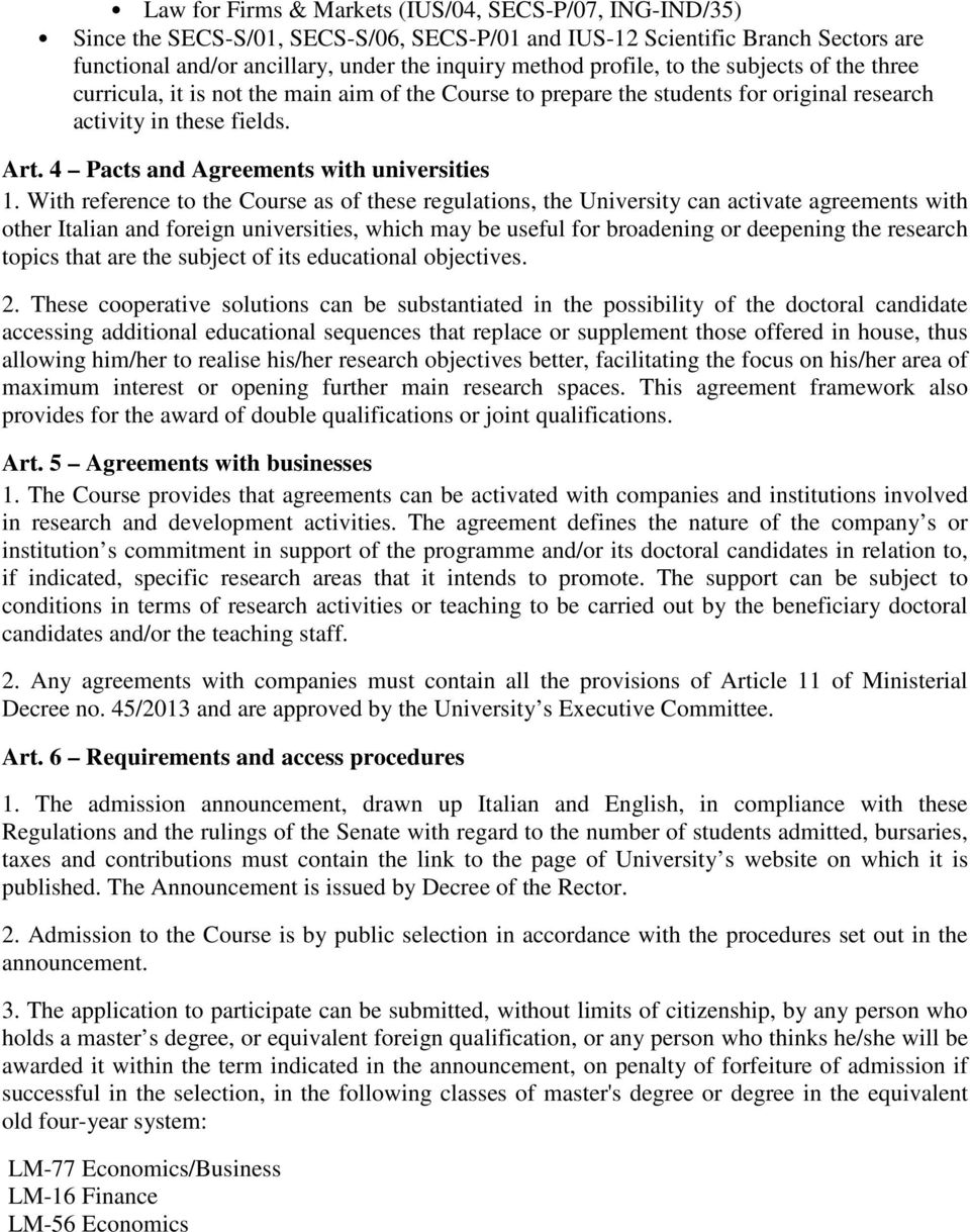 4 Pacts and Agreements with universities 1.